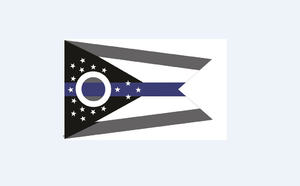 Ohio Thin Blue Line Flag - Small